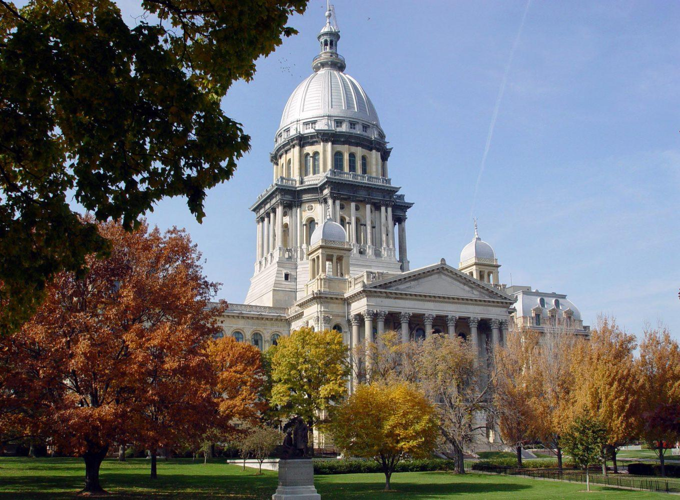 The Illinois capitol building in Springfield.