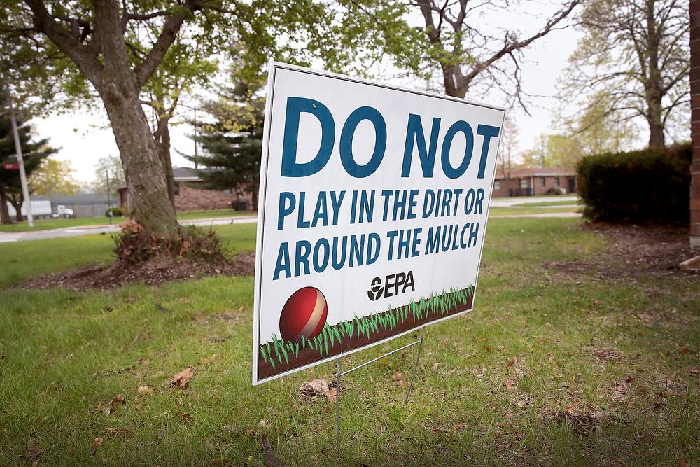 Photo of a sign reading