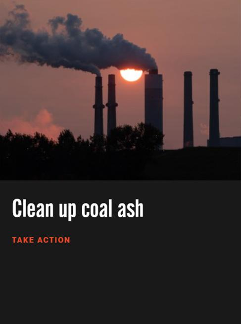 Take action to ensure we're all safe from toxic coal ash.