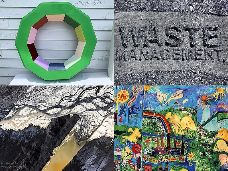 Artworks like these call attention to the health hazards of toxic coal ash.